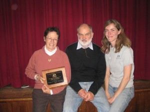 Kathy and Peter Leonard are the 2010 Sami Izzo Award recipients (pictured with Ed Mary Russ).