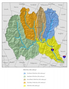 White River sub-watersheds